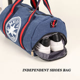 Durable Multifunction Handbag Men Canvas Sport Bag Training Gym Bag Women Fitness Bags Outdoor Sporting Bags for Male&Female