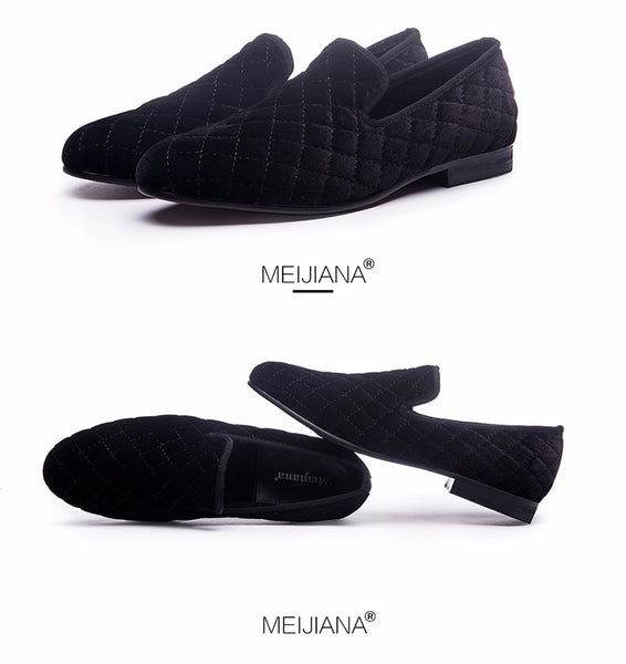 luxurious men dress shoes men Stripes and white Handmade Loafers Plus Men's Flats