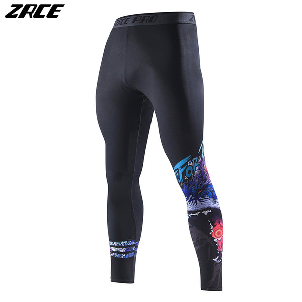 Sport Fitness Men Women Leggings Quick Dry Plus Size Skinny Gym Joggers Flexible 3d Print Wolf Flexible Compression Pants