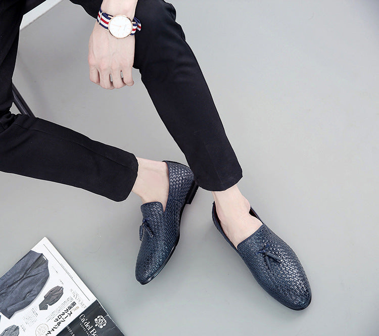 Dress Formal Shoes  Handmade Luxury Men's Flats Slip-on Loafers