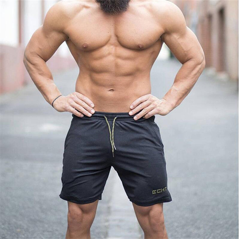 Mens Jogger Sporting Thin Shorts Men Black Bodybuilding Short Pants