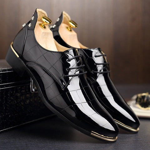Men Shoes Oxford Shoes For Men's Wedding Shiny Shoes Party Club