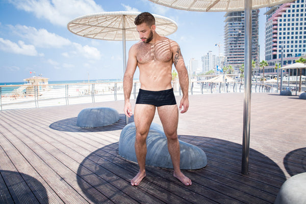 Men Swimwear Swim Boxers Board Shorts Surfing Swimsuits Brazilian Cut
