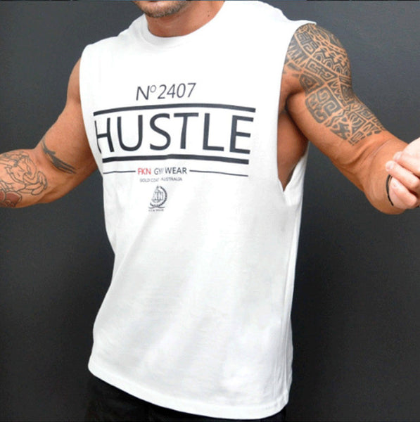 Men gyms Fitness Bodybuilding Tank Top Vest clothing sleeveless shirts