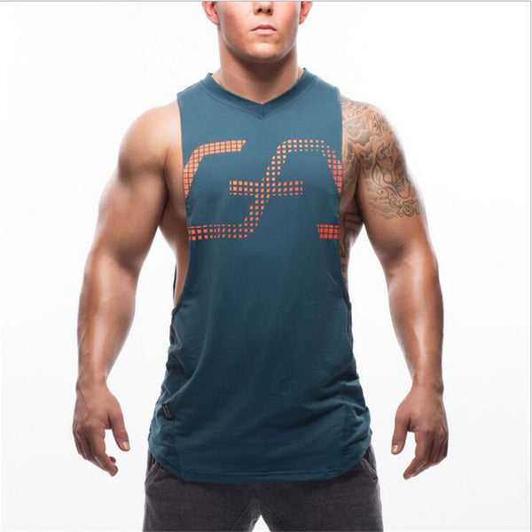 Stringer Tank Top Men Bodybuilding Clothing Fitness Mens Sleeveless gyms Vests