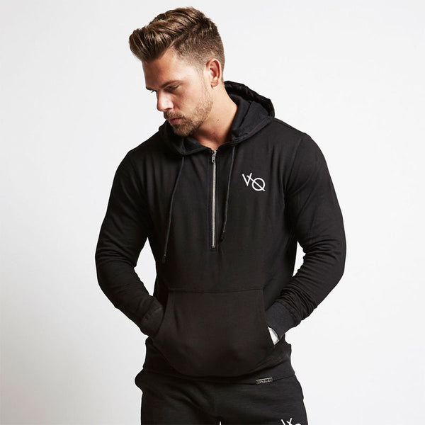 Mens zipper Hoodies Fashion Casual Hooded jacket  Gyms workout fitness Sweatshirts Brand sportswear clothing