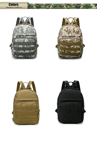 Outdoor Sports Men's Military Army Tactical Backpack Trekking Travel Rucksacks For Camping Hiking Trekking Camouflage Small Bag