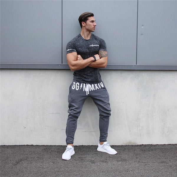 Men Winter Long pants Cotton Men's Sporting workout fitness Pants casual Fashion sweatpants jogger pant skinny trousers