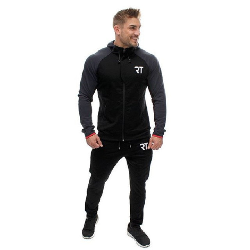 Autumn and winter Men Hoodies Hip Hop Mens Brand Letter Hooded Zipper Hoodie Sweatshirt Slim Fit Men fitness Hoody