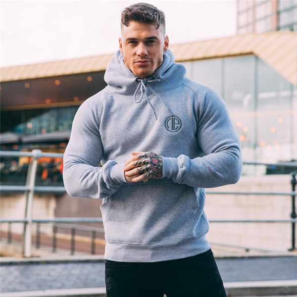 men's cotton hoodie fashion and fitness gyms zipper corset men's sportswear brand clothing