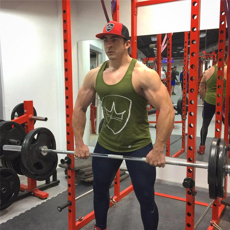 Tank Tops Mens Bodybuilding Stringer Vest Fitness Shirt  Cotton Sleeveless Tops Regata Masculina Muscle Workout