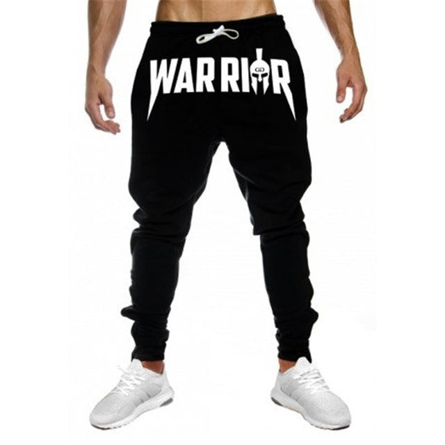 Gyms joggers Men Workout Fitness Print Cotton Gyms Pants Sweatpants Bodybuilding Pants