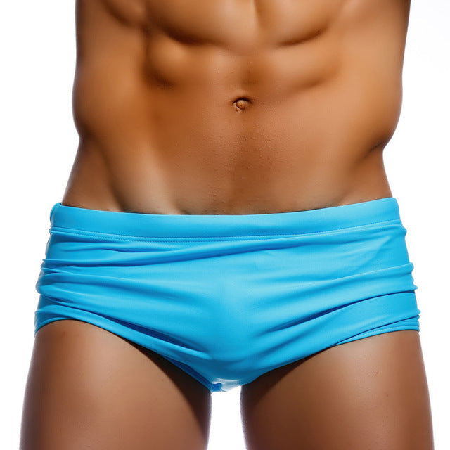 Men's Swimwear Swimsuits Swim Boxer Briefs Swimming Surfing Board Shorts