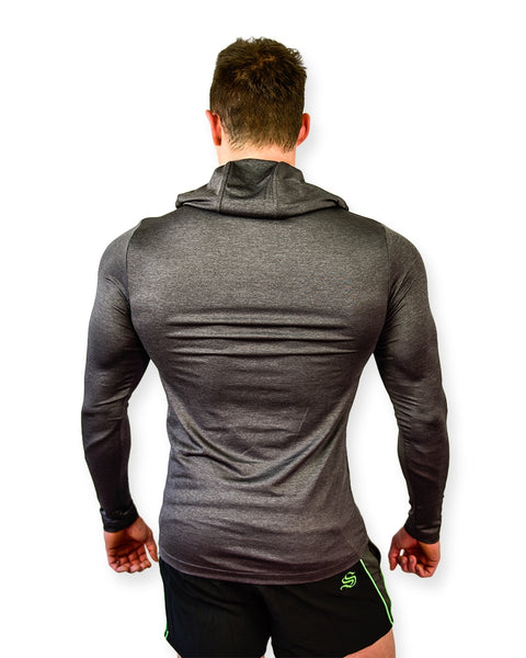 Men GYMS Hoodie  Cotton short Sleeve fitness Tops Bodybuilding Sportwear workout hooded