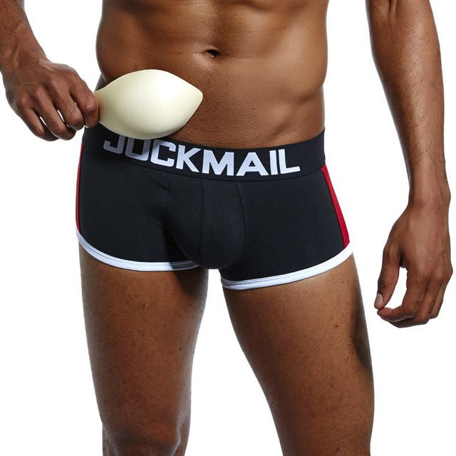 mens underwear boxers bulge enhancing push up cup