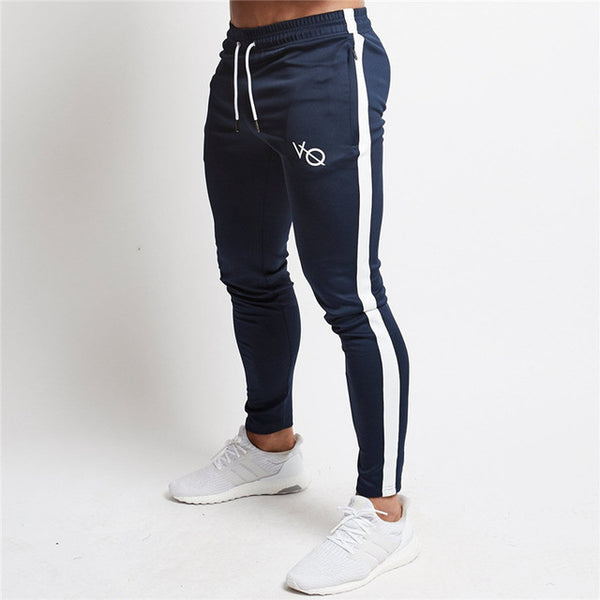 bodybuilding Long pants Mid Cotton Men's workout fitness Pants casual Fashion sweatpants