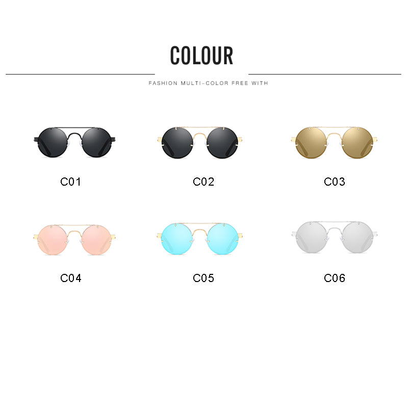 Round Sunglasses Retro Fashion Sun Glasses Men