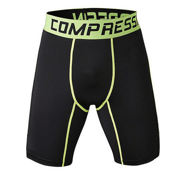 Mens Tight Elastic Compression Shorts Fitness Brand Clothing Short Pants