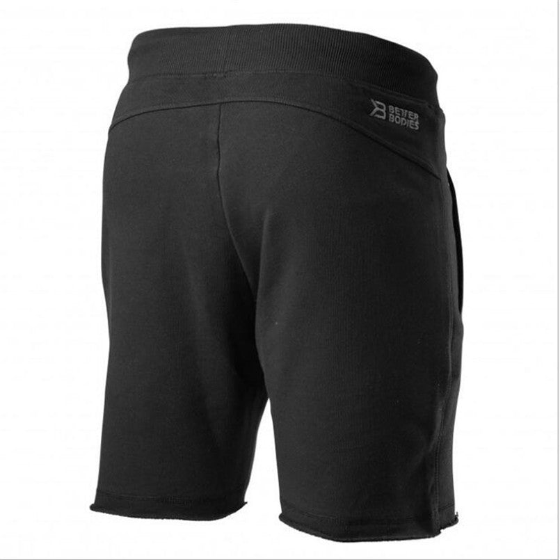 Cotton Men shorts Bodybuilding Fitness Workout Jogger Breathable Shorts Golds