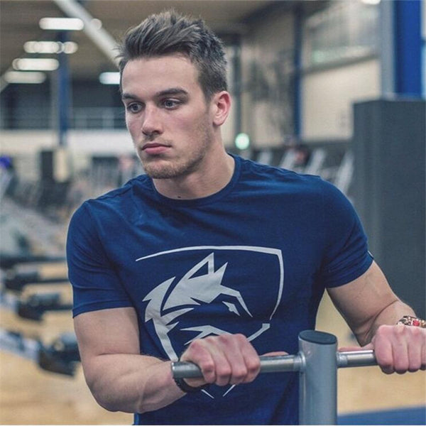 mens gyms T shirt Crossfit Fitness Bodybuilding