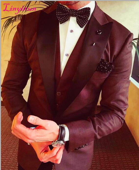 Men Suits Slim Fit 3 Piece Blazer Prom Suit Masculino