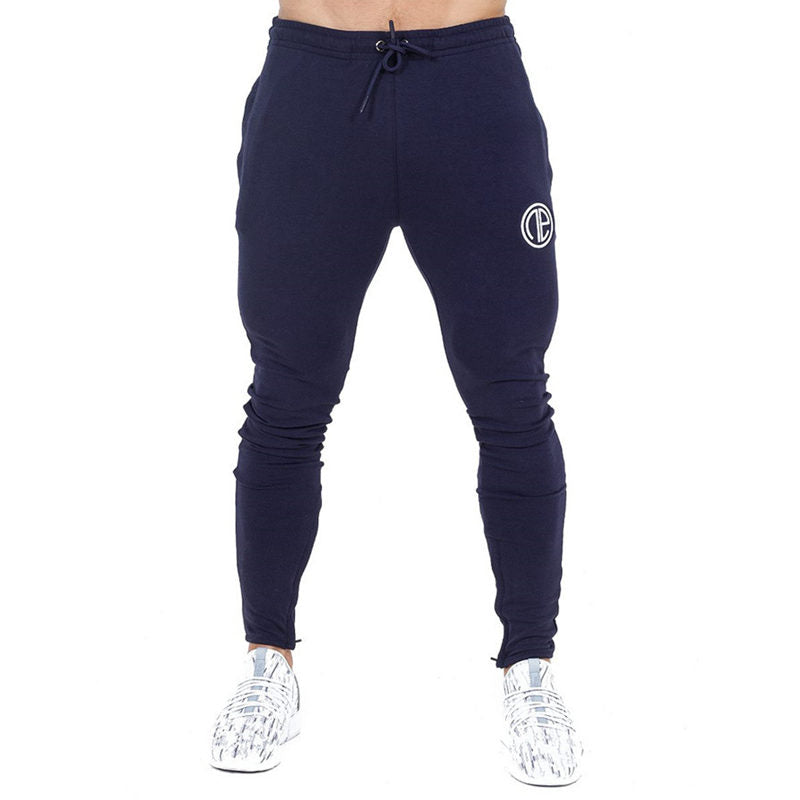 Men Fitness bodybuilding Skinny Sweatpants gyms cotton trousers Casual fashion Sportswear