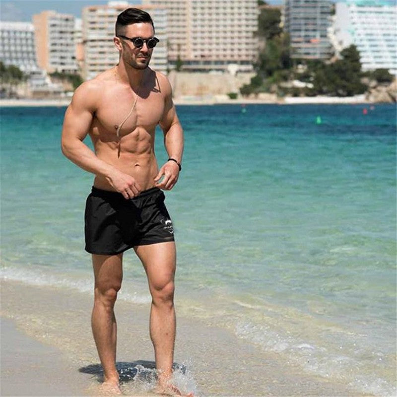 Summer Sexy Beach Men's Short Dry Elastic Waist Short Casual