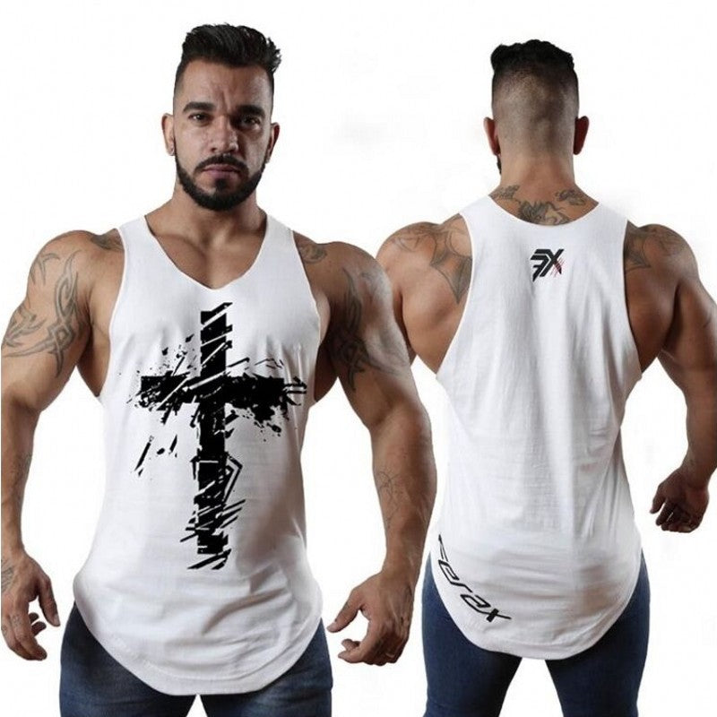 mens t shirts Summer Cotton Slim Fit Men Tank Tops Clothing Bodybuilding Undershirt Golds Fitness tops tees