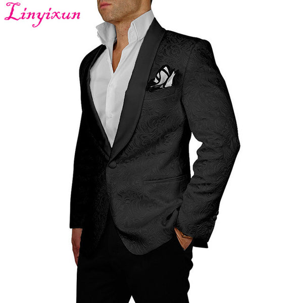Slim Fit Double Breasted Suits Groomsmen Wedding Suits For Men Jacket+Pant
