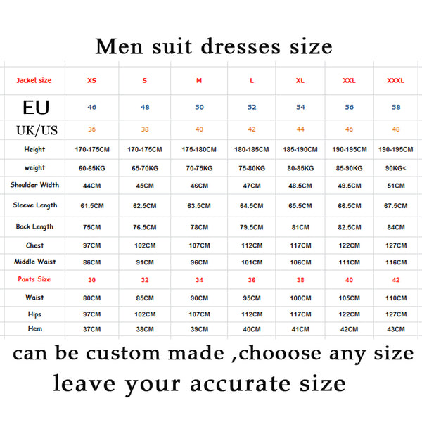 Handsome Black Mens Suits Set  Wedding Party Dinner Prom Suits Blazer