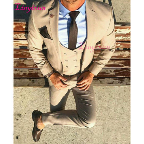 Slim Fit 3 Piece/Bridegroom/Wedding/Prom/Dinner Suits custom