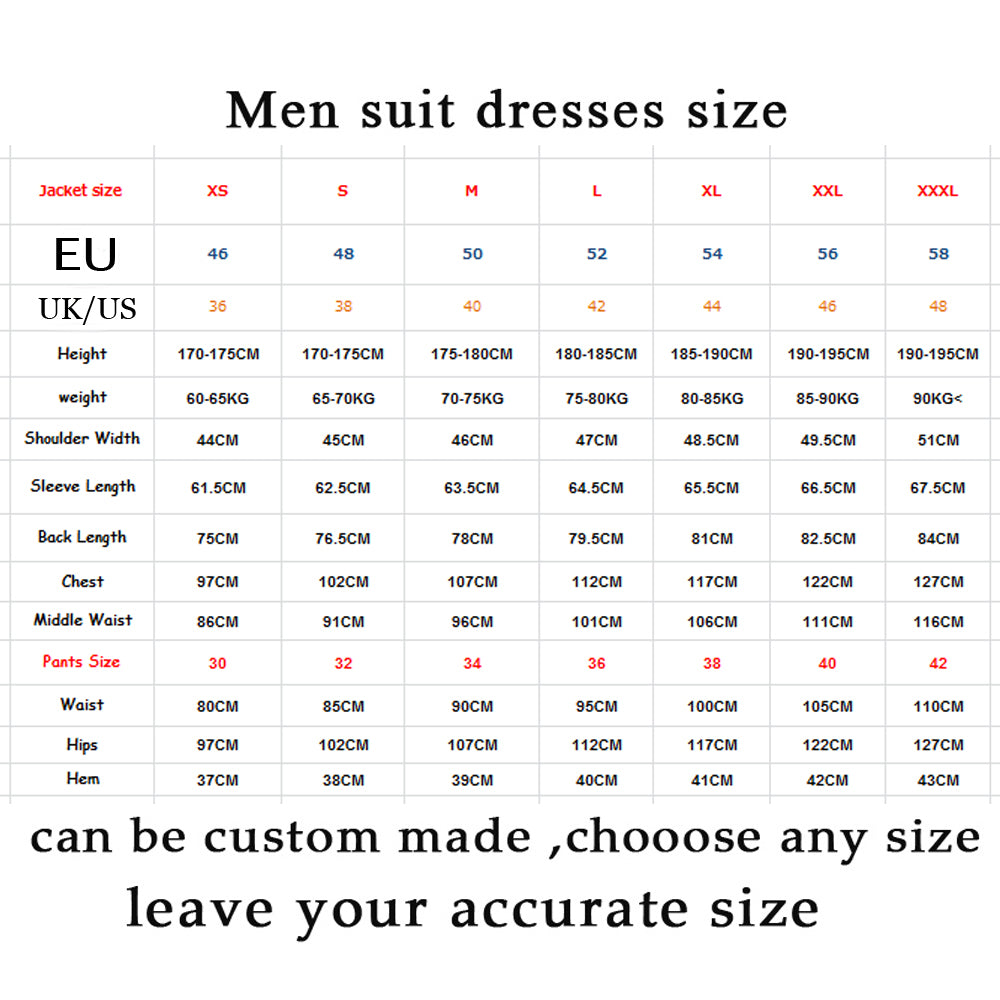 Royal Blue Men Suits Best Man Groom Prom Casual Slim Fit