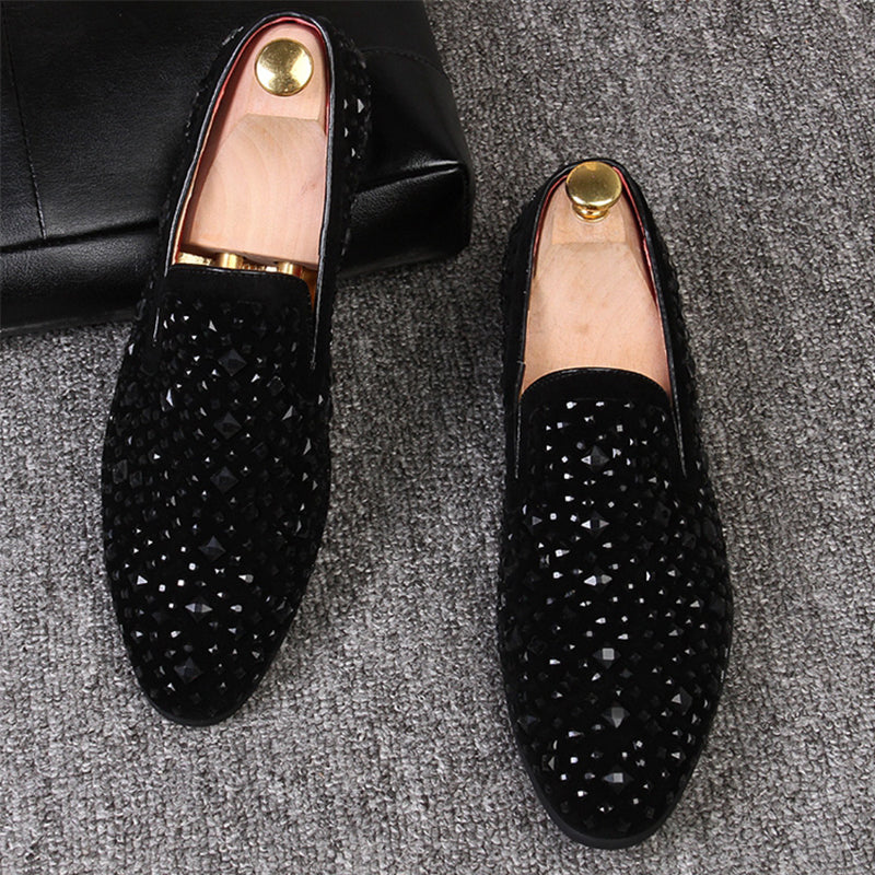 Men Flats Brand Fashion Breathable Casual Leather Shoe Slip-On