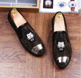 Luxury Men's Fashion Casual Shoes Slip on Rivets Loafers Shoes