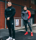 Men's Sets Of Two Parts Tracksuit+Pants set For Men Gyms Sportswear