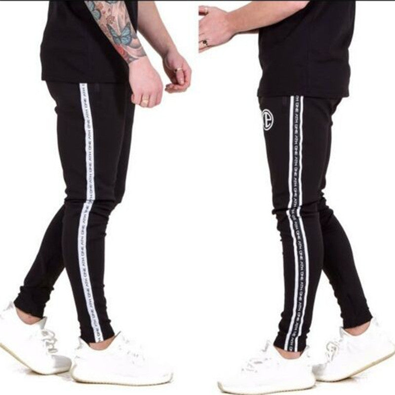 Mens Bodybuilding Casual Cotton Slim Fit Workout Jogger Sweatpants