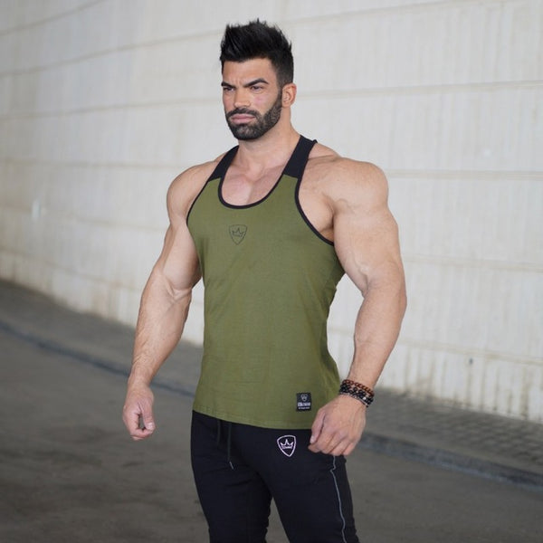 Summer Tank Top Men Bodybuilding Clothing and Fitness Mens Sleeveless Shirt