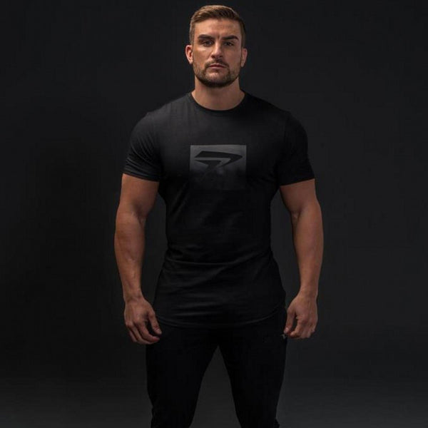Men's Tops Tees gyms cotton short sleeve t shirt