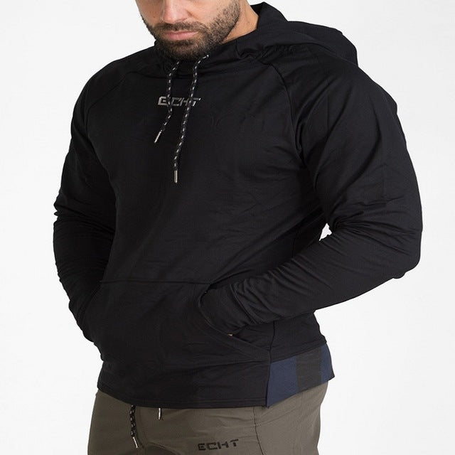 Men Hoodies And Sweatshirts Pullover Jacket Coat Bodybuilding Fitness Tracksuit