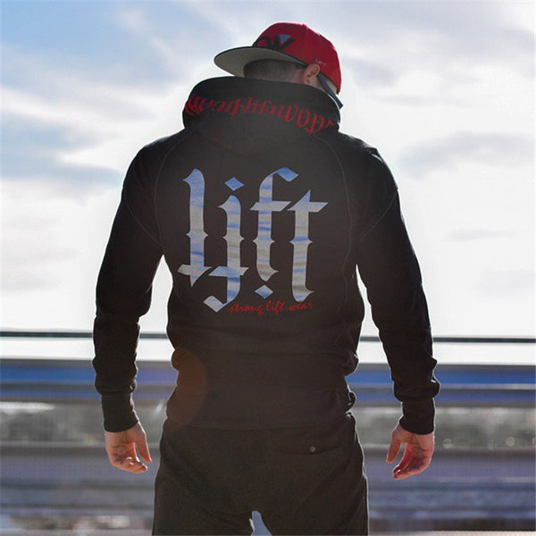 Men Fashion Hoodies Bodybuilding Sweatshirt Hip Hop