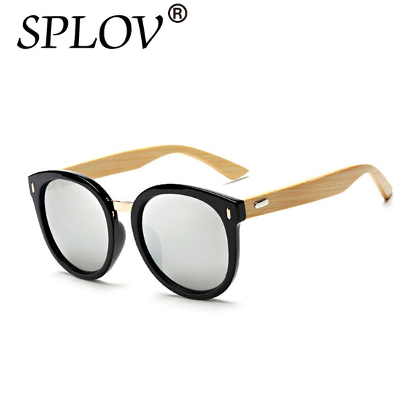 Bamboo Sunglasses Fashio Mirror High Quality Pilot UV400