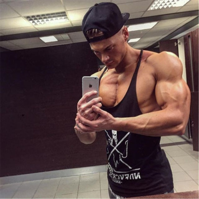 Tank Tops Cotton men gyms Bodybuilding Clothing Undershirt Golds Fitness tank top