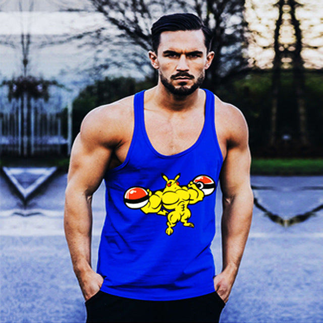 c5972cb9a683be ... Anime Printed Gyms Tank Tops Mens Undershirt Sporting Wear Bodybuilding  Men Fitness Exercise Clothing Vest Sleeveless ...