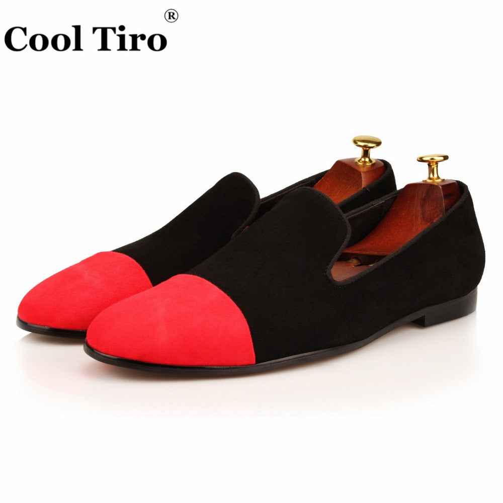 ddbc5d803c1 ... Moccasins Men Loafers Black Red Suede Smoking Slippers Flats Casual Shoes  Wedding Party Men s Dress Shoes ...