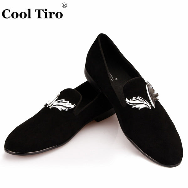 Mens Loafers Gold Flame Moccasins Men's Dress Shoes Wedding Party Flats SmokingSlippers Casual Shoes fashion