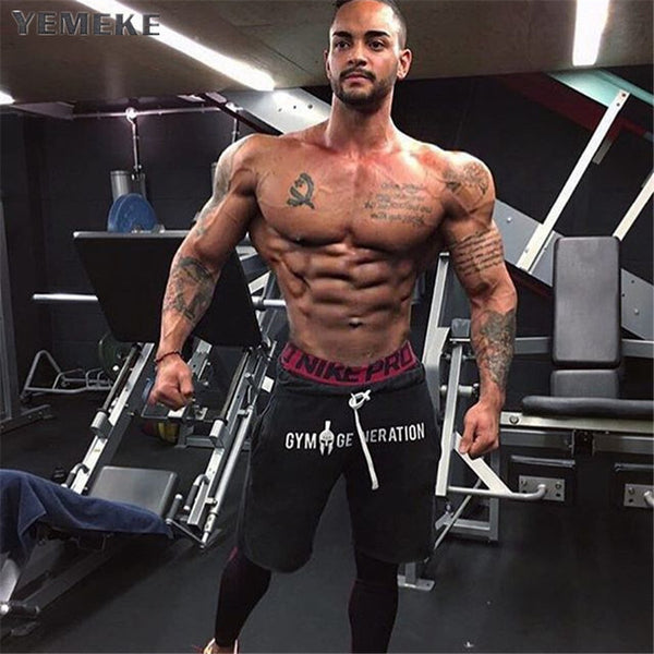Men Golds Brand Fashion casual wool shorts Fitness Shorts Mens Professional Bodybuilding Short Pants