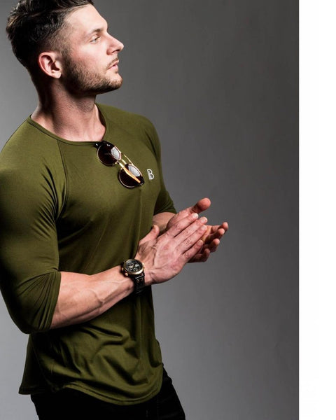 Men's Casual Long sleeved T-shirt 100% Cotton Heavyweight Thick t shirt High quality plus size shirt fitness male tops