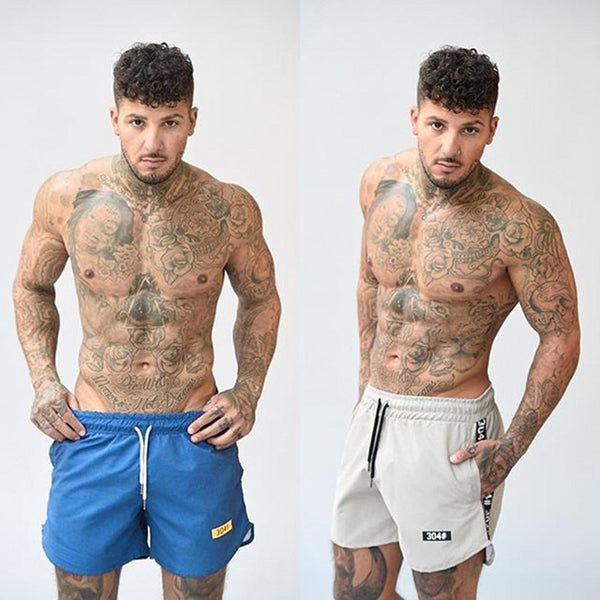 Men's Casual Summer Shorts Sexy Sweatpants Male Fitness Bodybuilding Workout Man Fashion Crossfit Short