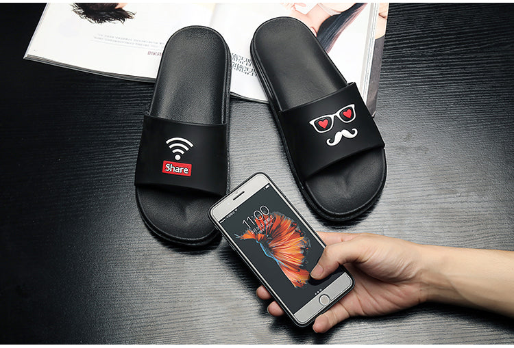 Summer Slides Male Fashion Outside Slippers Women&Men Casual Slides Men Casual Slippers Lovers Beach Shoes Unisex Slippers