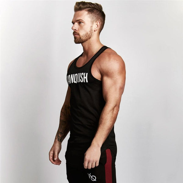 summer fitness Mens Tank Tops Sleeveless Shirts men tank tops Bodybuilding fitness Men's Singlets workout tank tops tees